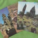 Postcards From INDONESIA Glossy Chrome Scenic Java Jakarta Borobudur