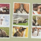 Cats Kittens Stamps Colllection Republique du Benin Lot of 9 Feline Photo Art