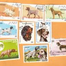 Hunting / Sporting Dogs Set of 9 Postage Stamps Assortment