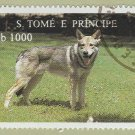 Alsatian / German Shepherd Stamp Sao Tome E. Principe