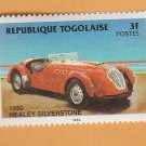 Healey Silverstone Classic Sports Car, Automobile, Postage Stamp, Republic Togolaise