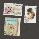 Cocker Spaniel Dog Art Stamps Collection Head Study Canine