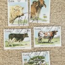 Cattle Postage Stamps Cows Charolaise/Holstein/Zebu