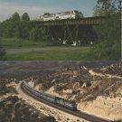 AMTRAK Two Postcards Transit Railroad Train Locomotives Crescent Desert Wind