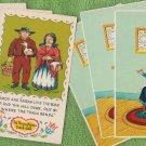 Pennsylvania Dutch Postcards Amish Girl With Cat
