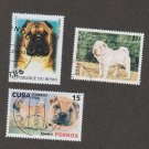 Collection of 3 SHAR PEI DOG POSTAGE STAMPS Art