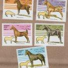 Afghanistan Horses Postage Stamps Equine Art Hackney Saddlebred