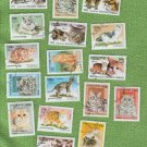 Royalume du Cambodge Cat Stamps Feline CTO F to VF Miniature Art