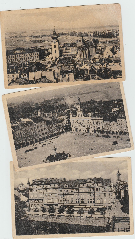 Ceska Budejovice Vintage Postcards Street Scenes