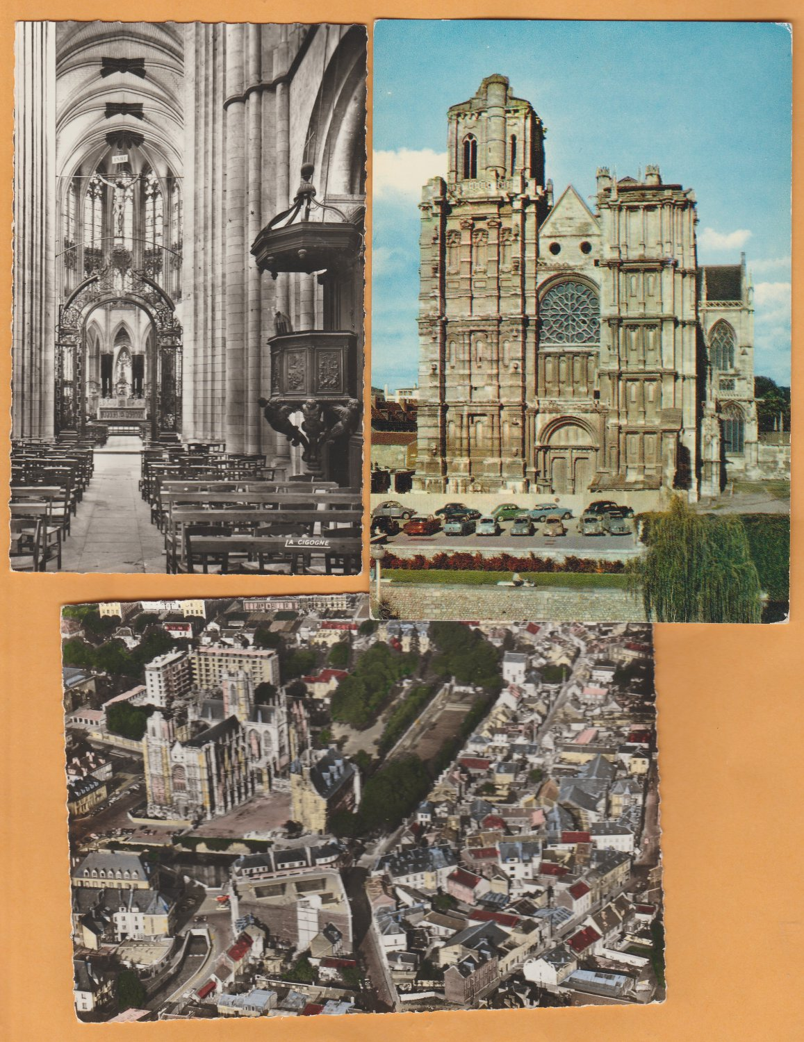 Evreux (Eure) France Postcards Lot of 3 Cathedrals Historic Churches