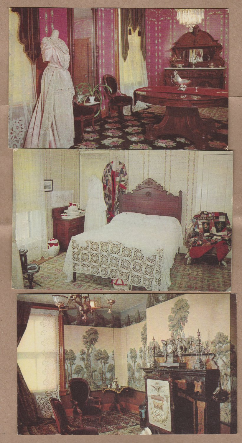 Healy House State Museum Postcards Interior Views Leadvlle Colorado