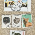 Cat Stamps Assortment Lot of 6 F to VF
