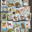 DOG POSTAGE STAMPS WORLDWIDE COLLECTION FOREIGN ASSORTMENT OF 40 CANCELED