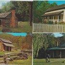 Tennessee Postcards Lot of 4 Cades Cove Log Cabins, Jack Daniels