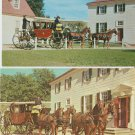 Two Postcards Powel Coach Mount Vernon Carriage Horses