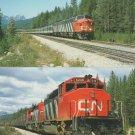 Canadian National Railways Two Postcards Trains Diesel