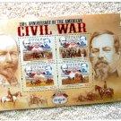 Civil War 150th Anniversary Stamps Souvenir Sheet Battle of Bull Run Guyana