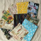 Fabric Bundle Assorted Sizes Remnant Pieces, Animals, Birds, Various Designs