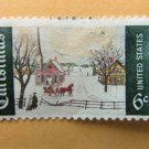 Christmas Postage Stamp U.S. Scott 1384 Contemporary Winter Scene