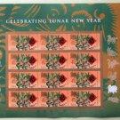 Celebrating Lunar New Year U.S. Postage Stamps Sheet / Pane of 12