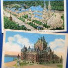 Two Canada Vintage Postcards Historic Hotel, Church, Monument, Quebec