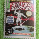 Silver Surfer 41c Marvel Comics Postage Stamp Superheroes Miniature Art
