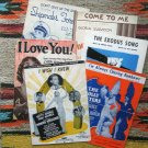 Movie Themes Sheet Music Collection Assortment Vintage, Antique