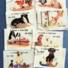 Dogs and Cats Postage Stamps Lot of 8 Sao Tome E. Principe