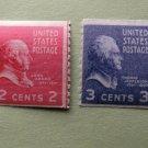 1939 Rotary Coil U.S. Postage Stamps Thomas Jefferson 3c, John Adams 2c