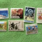 Australia Postage Stamps Assortment of 7 Used Cycling, Beef Cattle, Siege of Tobruk