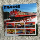 TRAINS Souvenir Sheet 6 Postage Stamps Electric Railway