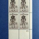 Jim Thorpe Athlete Plate Block of 4 20c MNH Stamps Football Sports