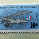 50th Anniversary U.S. Air Mail Postage Stamp Curtiss Jenny Aviation Airplane