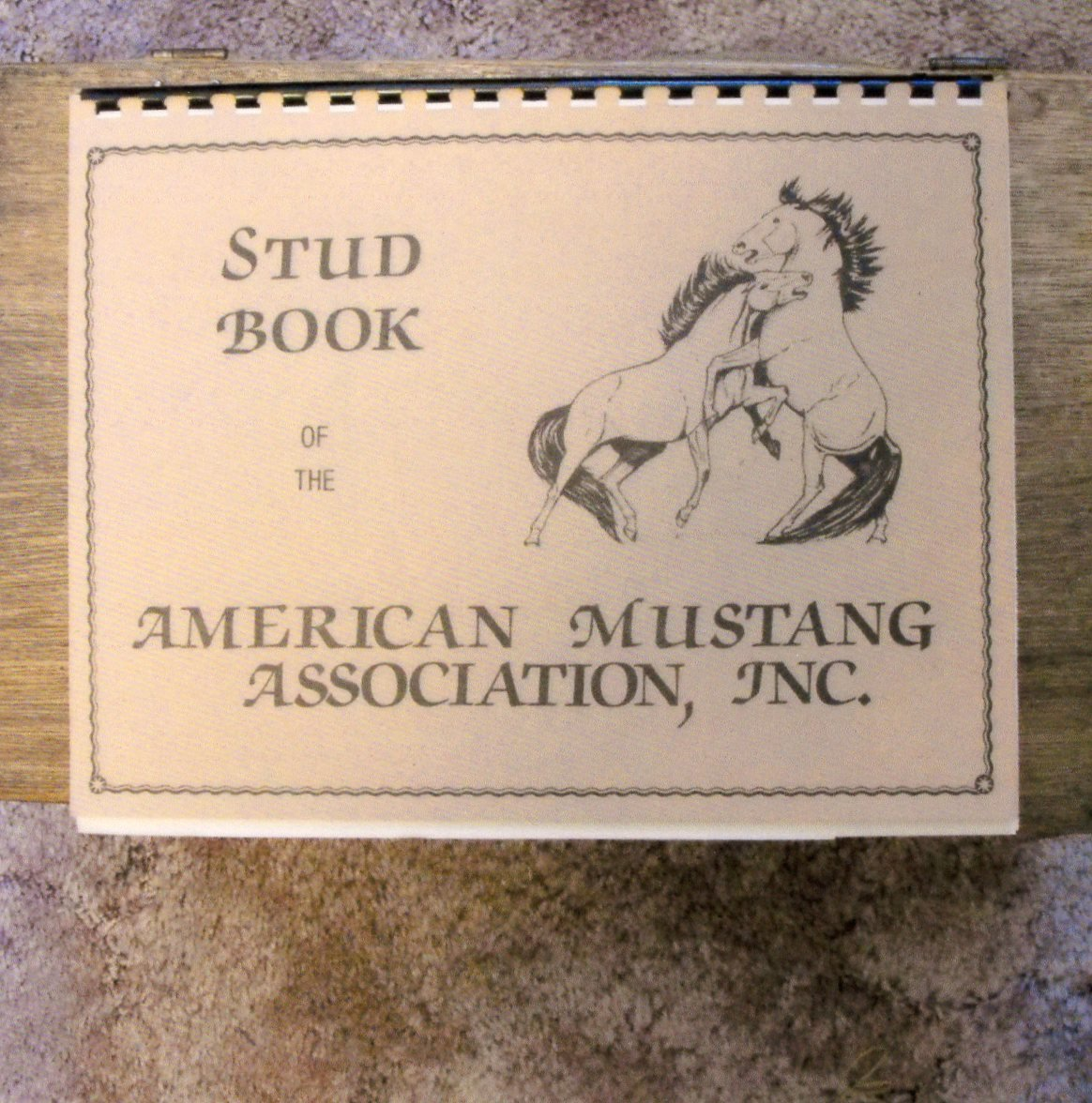 American Mustang Association, Stud Book, Spiral Bound, Horses, RARE