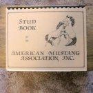 American Mustang Association, Stud Book, Spiral Bound, Horses, RARE