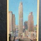Rockefeller Center, Ney York City, Skyscraper, Post Card, Linen, Used