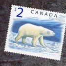 Canada $2 Polar Bear Postage Stamp Arctic Wildlife MNH