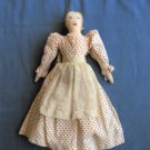 Handmade Pioneer Doll With Apron, Soft Sculpture, Cloth Traditional Dress