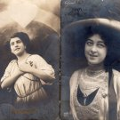 Young Women RPPC Postcards, Good-Looking Ladies, Vtg / Antique, Real Photo