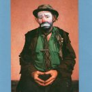 "Emmett Kelly ""Weary Willie"" Clown Postcard Circus Mime Mournful Tramp Character"
