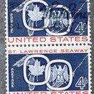 St. Lawrence Seaway 4c U.S. Postage Stamp Maple Leaf Great Lakes