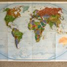 National Geographic Double Sided Map Wall Art Supplement