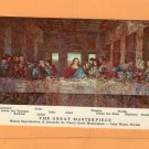 The Great Masterpiece Postcard Religious, Mosaic, Last Supper, Art