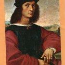 Portrait of d'Agnolo Doni Postcard, Raphael, Painting, Art, Italian Gentleman