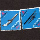 Mexico Airplane Postage Stamps, Vtg, Airliners, Aviation, Mexicana, Flight