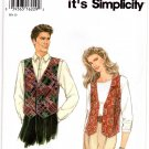 Simplicity 9285 Sewing Pattern So Easy Misses Teens, or Mens Vest Size A