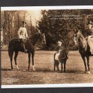 German Royal Family On Horseback Ride, Postcard, Prussia, Prince Wilhelm