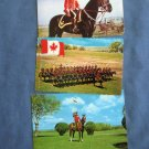 Royal Canadian Mounted Police Horses Three Postcards Policemen, RCMP, Canada