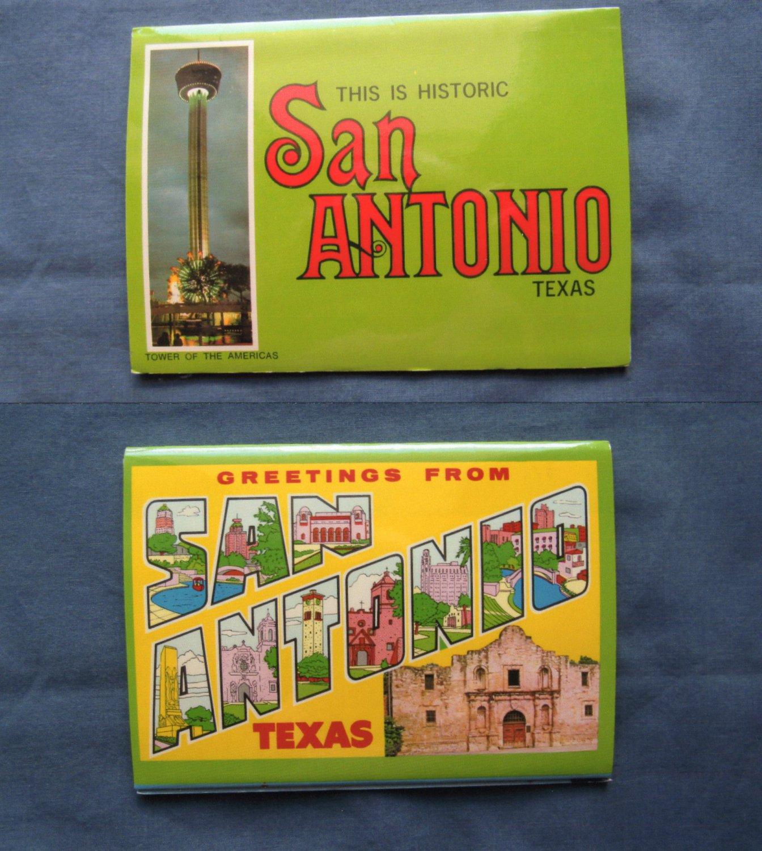 San Antonio Texas Picture Folder, Alamo, Sunken Gardens, Lackland Air Force Base