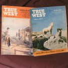 Two Issues True West, Vintage Magazines, Wild Horses, Davy Crockett, Lost Mine
